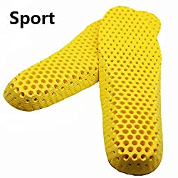 Aeoss 1 pair Stretch Breathable Deodorant Shoes Running Insoles Cushion Insert Pad (SkyBlue, 39)