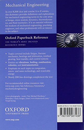 A Dictionary of Mechanical Engineering (Oxford Quick Reference)