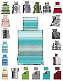 Basatex Microfaser Bettwäsche Set viele neue Designs und in 2 Größen, 2tlg. 135x200 Stringway türkis