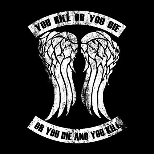 Walking Dead Kill Or Die Quote Clean Women's Sweatshirt Black