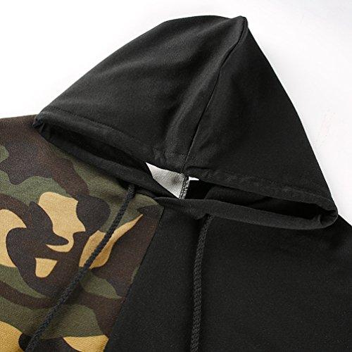 YiLianDa Donna Felpa Con Cappuccio Casual Maglione Nella Camouflage Top T Shirt Autunno Inverno Come l'immagine