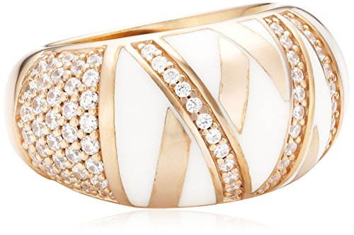 Joop Damen-Ring 925 Sterling Silber Harz Zirkonia Stripes weiß Gr.55 (17.5) JPRG90726C550