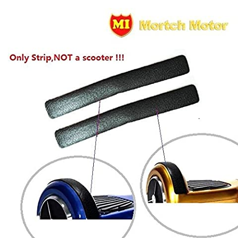Rubber MORTCH New One Pair Remplacement protection pare-chocs Protection Strip pour Hoverboard Noir