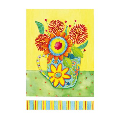 Cup Of Flowers Garden Flag Evergreetings Card Evergreen Cup