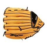 Baseball glove - TOOGOO(R) Baseball glove For pitcher Soft type For throwing right Brown (10.5 inch)