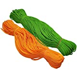 Happycraft Set of 2 Nylon 2mm Macrame Cord (60 Meters) 6 ply Nylon Knotting Poly Propylene Cord for Macrame (Approx - 200 Grams) Ideally Used for Jewelry Making, Bags and Various Other Craft Projects.