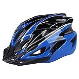 Six Foxes Fahrradhelm, Unisex Erwachsenen Fahrradhelm Rennradhelm mit abnehmbarem Visier und Futter, verstellbarem Thrasher (blau)