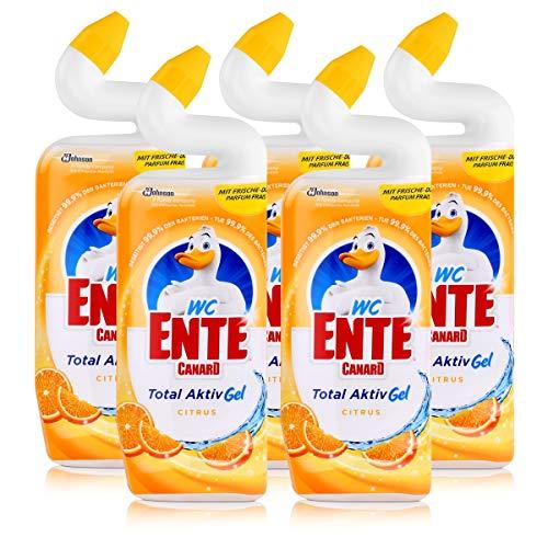 Citrus-gel-reiniger (WC Ente Total Aktiv Gel Citrus 750ml - Flüssiger WC Reiniger (5er Pack))