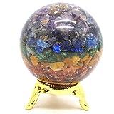 Healing Crystals India Natural Gemstone Ball Semi Precious Stone Chakra Orgonite Reiki Feng Shui Reiki Healing Energy Charged Stone Chips 50-55 mm Free Shipping