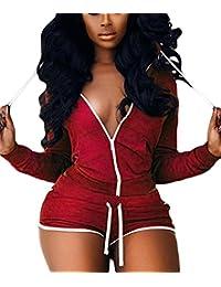 Y-BOA Ensemble Été Top 2pcs Short Femme Rouge Vêtement Casual Sport