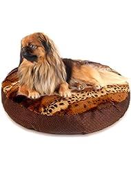 SAN QIAN WAN- Pet Soft House Pad Crate Cushion Mat para perros Gatos Supper Cómoda mascota Sleeping Bed Crate Mat Leopard Printed Alfombra para mascotas ( Color : Leopard )