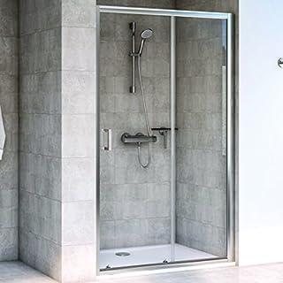 Aqualux 1193804 Sliding Shower Door Recess Fit, Polished Silver, 1200mm