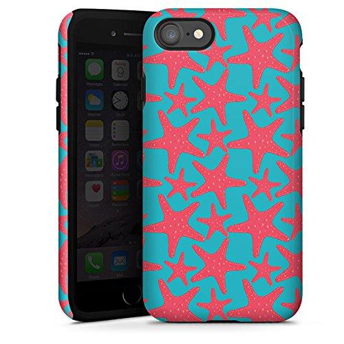 Apple iPhone X Silikon Hülle Case Schutzhülle Seestern Sommer Urlaub Tough Case glänzend