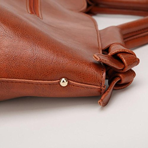 MeiliYH 2020 New Ladies Sacchetto di spalla della signora diagonale della borsa di cuoio dell'unità di elaborazione nero