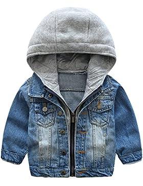 ARAUS-Kinderkleidung Frühlingsmodelle Jungen Kinder weiche gewaschen Kapuze Jeansjacke Jeansbekleidung mit reißversluss