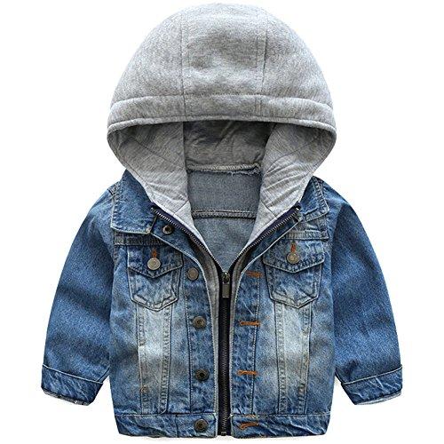 ARAUS Niños Chaqueta Vaquera Capucha Demin Jacket
