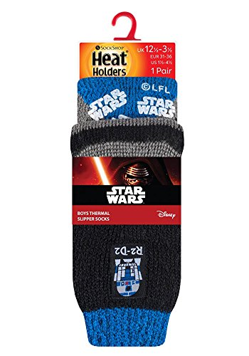 HEAT HOLDERS - Hombre Niños Disney Star Wars Calientes Fantasia Cómodo Térmico Calcetines para Fans de La guerra de las galaxias