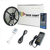 ALED LIGHT 5m Wasserdicht RGBW (RGB+Kaltweiß) LED Streifen mit 300 LEDs (SMD 5050) + 40 Tasten Fernbedienung +12v 6A Netzteil mit EU Stecker für Haus & outdoor Decorative