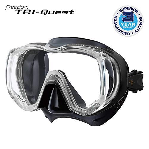 Taucherbrille Tusa Tri-Quest Freedom - tauchmaske schnorchelmaske erwachsene silikon - schwarz