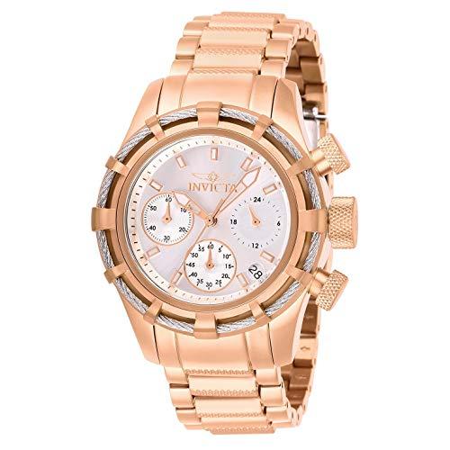 Invicta Women's Bolt Rose Gold-Tone Steel Bracelet & Case Quartz Watch 27493