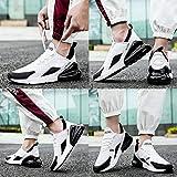 KUDOON Laufschuhe Herren Damen Atmungsaktiv Rutschfeste Mode Sportschuhe Mesh Fitnessschuhe Unisex Weiß Schwarz 43 - 7