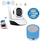 #8: Captcha Wireless Full Hd 1080P Ip Wifi Cctv Indoor Security Camera with S10 Wireless LED Bluetooth Speakers with Calling Functions & FM Radio Compatible with Xiaomi, Lenovo, Apple, Samsung, Sony, Oppo, Gionee, Vivo Smartphones (One Year Warranty)
