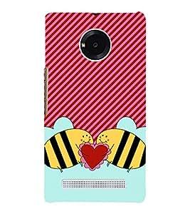 Love Bees 3D Hard Polycarbonate Designer Back Case Cover for YU Yureka Plus
