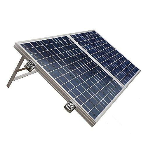 ECO-WORTHY 100W Solarpanel Komplett Set - 12 Volt Solar-Ladegerät - Faltbar Solarmodul 100W - Polykristallin Solarzellen 12V für Camping Wohnwagen Boot -