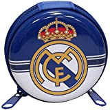 Real Madrid Monedero de Metal Redondo de Monedero, 25 cm, Multicolor