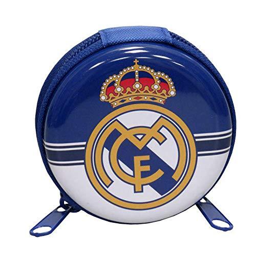 Real Madrid Monedero de Metal Redondo de Monedero