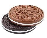 Katara - Specchietto make up con pettine a forma di biscotto, 1 pezzo