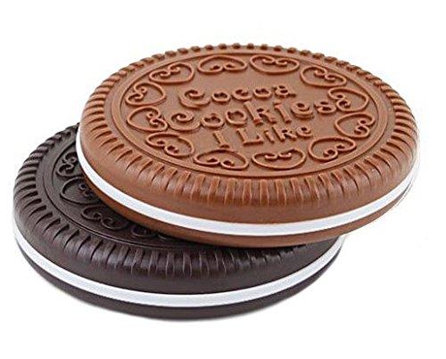 Sanwood Miroir Peigne Mignons Conception En Forme De Biscuits Chocolat (Up Make Billig)