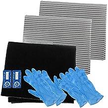 SPARES2GO Campana extractora carbono filtro de grasa Kit completo para cata completo cocina extractor Vent