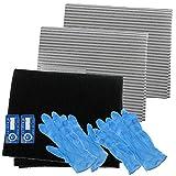 Spares2go hotte Carbone Graisse filtre kit complet pour Broan complet de cuisine Extracteur d'air Grille d'aération