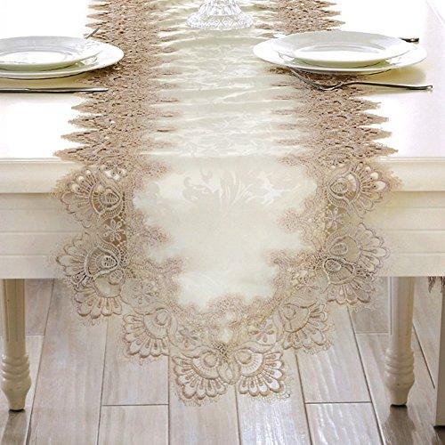 JINGJIE Tischläufer europäisch spitze tuch coffee table tv-schrank bett-flagge esstisch schuhkarton dekoration-A 40x120cm(16x47inch)
