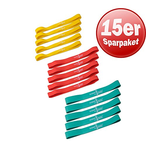 Dittmann Rubber-O 15er Set 3 Widerstände Training Functional Kraft Workout