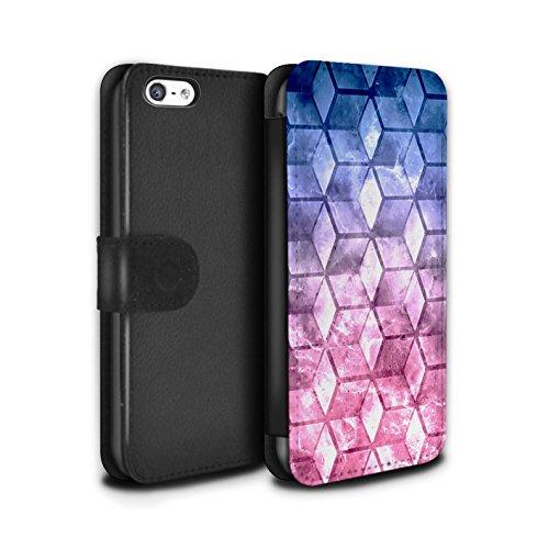 Stuff4 Coque/Etui/Housse Cuir PU Case/Cover pour Apple iPhone 5C / Multipack Design / Cubes colorés Collection Bleu/rose