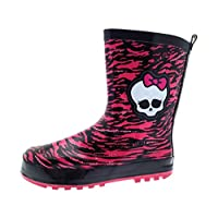 Monster High Girls Kids Rubber Wellington Boots Size UK 10-2.5