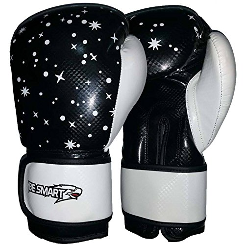 BE SMART Junior Jugend Boxhandschuhe Kids Pad 113,4 g, 170,1 Boxsack Kinder MMA P, Damen Herren Kinder, schwarz/weiß (Junior Pad Smart)