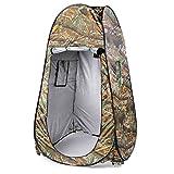 Tente de camping tente tente instantanée confidentialité Abri pour douche bain à langer WC, portable multi-uso avec fermeture éclair Porte ensuite Pop Up Tente Testeur Air Libre à langer (Camouflage)