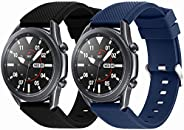 Suoman for Samsung Galaxy Watch 3 45mm Band, 22mm Soft Silicone Sport Replacement Strap Band for Samsung Galax