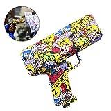 precauti Geld Pistole Spielzeug Money Gun Geldpistole Party verschießt Banknoten Geldschein Pistole Spritzpistole Clown Fashi