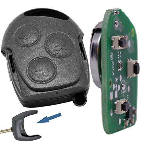 Auto Schlüssel Funk Fernbedienung 1x Gehäuse + 1x 433 MHz Sender Sendeeinheit + 1x Batterie für Ford