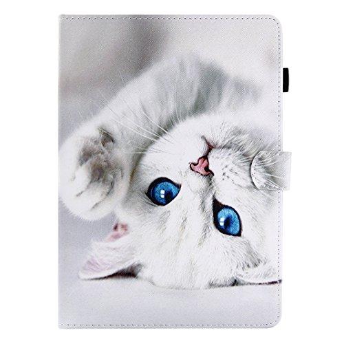 Kindle Paperwhite Lederhülle, Asnlove Ledertasche Flip Kunstleder Ständer Schutz Hülle Tablet Smart Cover mit Auto Sleep/Wake up für Alle Kindle Paperwhite (2016/2015 / 2013 6 Zoll - Weiße Katze