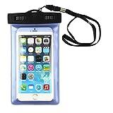 Tongshi Funda Universal Impermeable Bolsa Bolsa Para Teléfonos Celulares iPhone 6 Plus 5.5 '' Azul