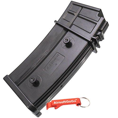MAG 100rd Mid-Cap Magazin für G36 Serie Softair AEG - AirsoftGoGo Schlüsselanhänger Inklusive -