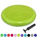 Ballsitzkissen inkl. Pumpe für Fitness, Yoga, Reha, Rückentraining und coordination, TRIDEER 34cm Anti-Burst...