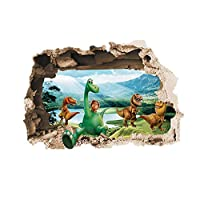 3D Wall Stickers,Diadia Dinosaur Removable Mural Stickers Wall Decor Home Decor Kids Living Room Decor for Living Room Bedroom Kitchen Bathroom