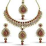 Rich Lady Gold Austrian Stone Necklace S...