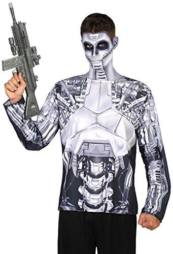 ATOSA 9657 Kostüm Zubehör, Herren, mehrfarbig, Größe M-L (Roboter Beine Kostüm)